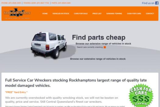 Kawana Wreckers Rockhampton | Web Design
