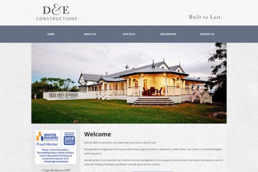 D&E Constructions Rockhampton | Web Design