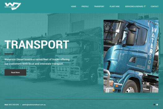 Waterson Diesel Gladstone | CMS Website Design